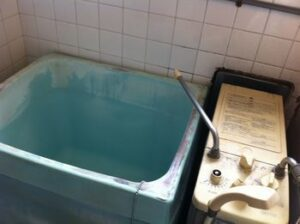 old type Japanese bath
